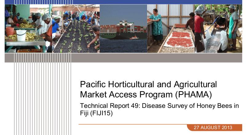 Technical Report 49: Disease Survey of Honey Bees in Fiji (FIJI15)